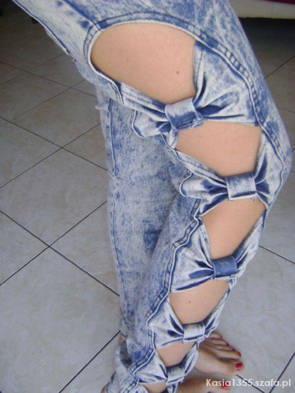 Ubrania Spodnie Japan Style kokardki