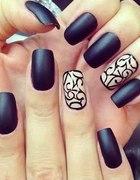 Matowe paznokcie retro vintage nails