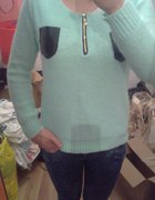 mietowy sweterek