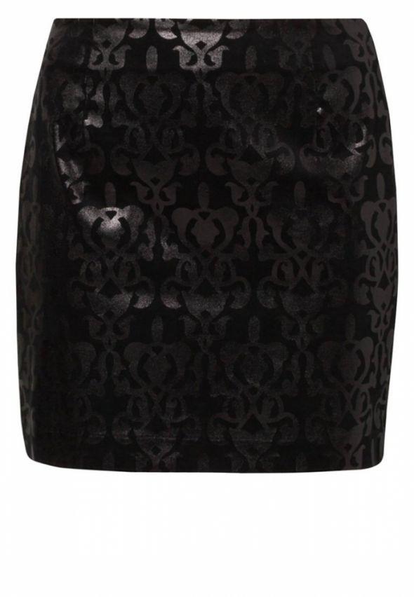 Spódnice Zalando Collection Czarna mini we wzory