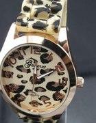 Zegarek geneva panterka złoty