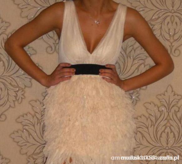 Sukienka H&M pióra