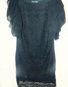 Atmosphere koronkowa black sukienka mała czarna