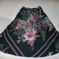 świetna spódnica w kwiaty retro