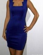świąteczna kreacja kobaltowa sukienka i dodatki...