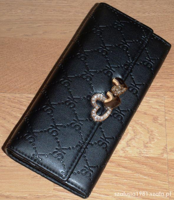 Portfele NOWY pikowany portfel xl