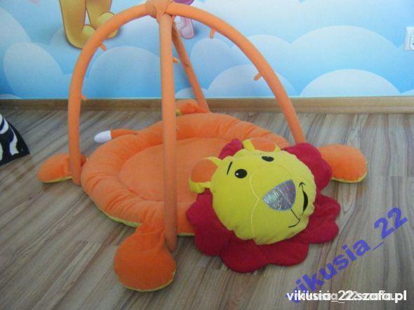 Zabawki Mata edukacyjna tygrysek pomaranczowy lew