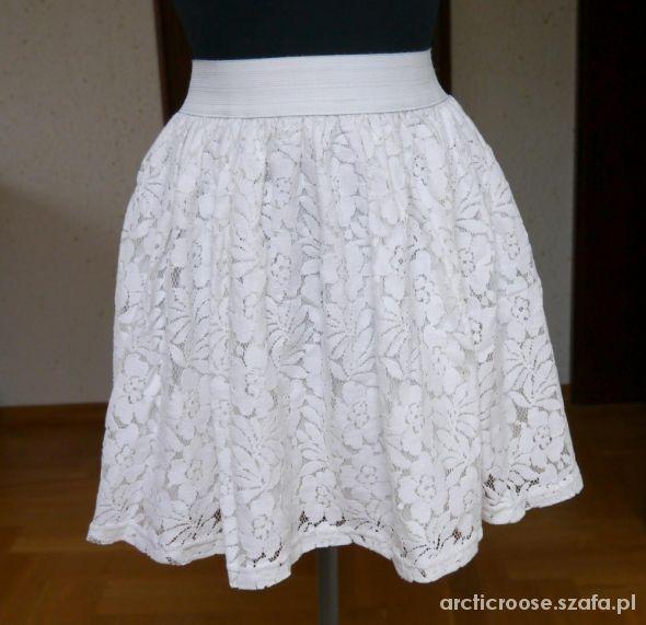 Spódnice Cubus biała spódnica z koronką