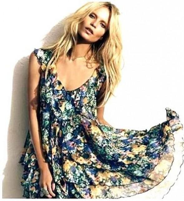 Suknie i sukienki Sukienka HM Garden Collection kwiaty M