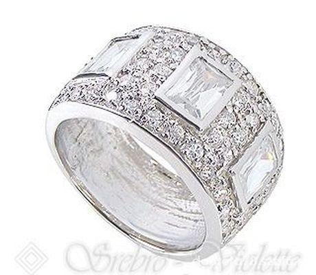 ede14af10714e1 pierścionek obrączka gruba z cyrkoniami w Pierścionki - Szafa.pl