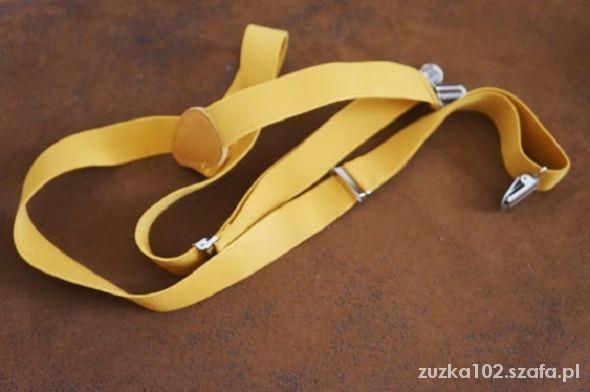 Pozostałe szelki żółte musztardowe oryginalne hipsterskie