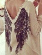 Mega sweterek skrzydła
