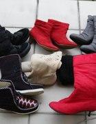 Kozaki buty saszki wedgesy