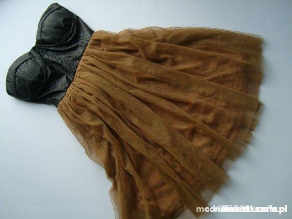 sukienka z gorsetem skórzanym