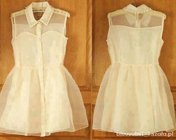 Sukienka z syfonową górą