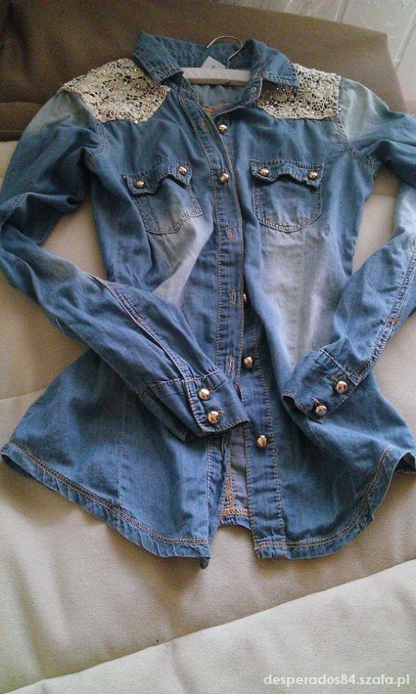 jeans koronka