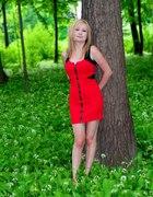 Czerwona sukienka z New Yorker