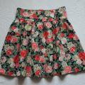 H&M Spódnica floral z podwyższonym stanem r 38