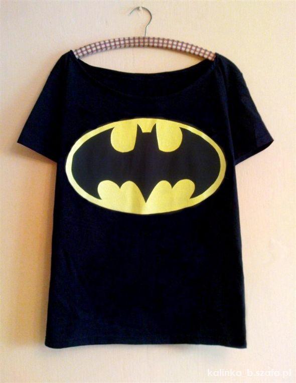 czarny oversize off shoulders Batman DIY