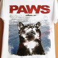 Zabawny tshirt kot mysz paws jaws