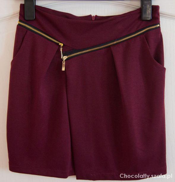 Spódnice Spódniczka z modnymi złotymi zamkami