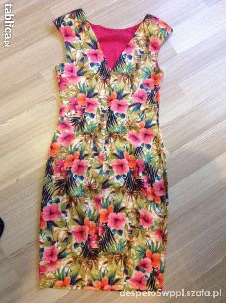 Sukienka Zara floral xs s