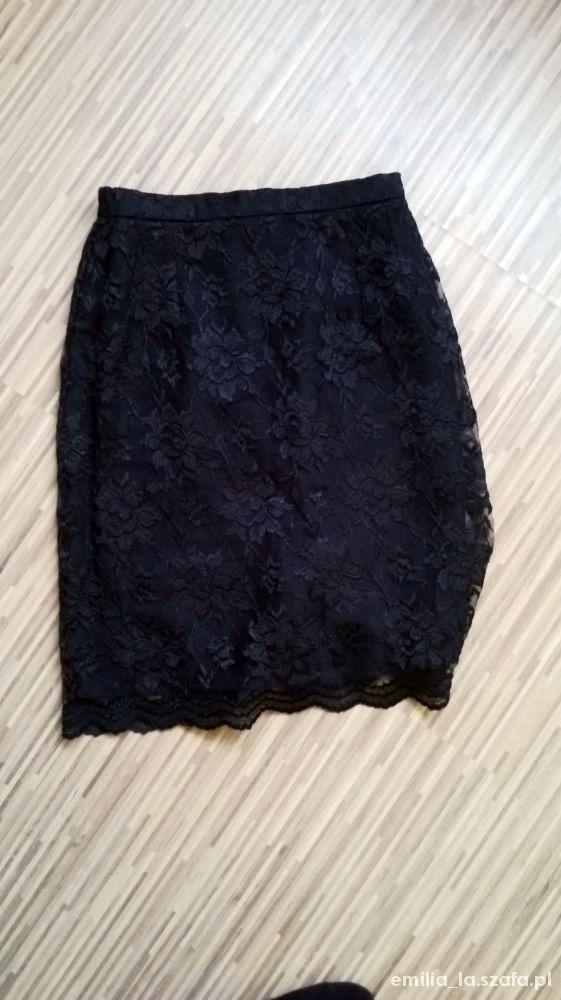 Spódnice Czarna spódnica z koronki