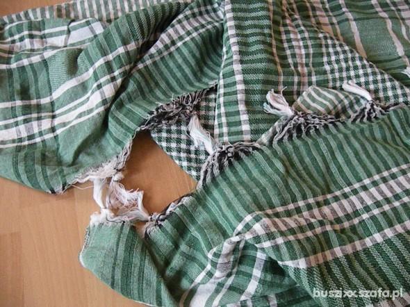 Chusty i apaszki Arafatka zielona krata