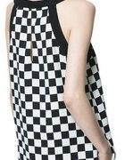 sukienka ZARA szachownica