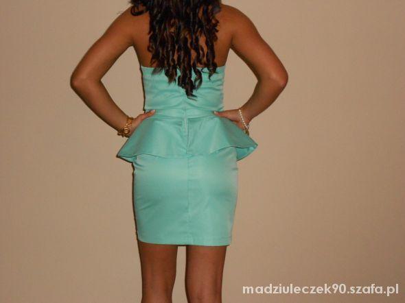 Wieczorowe sukienka miętowa