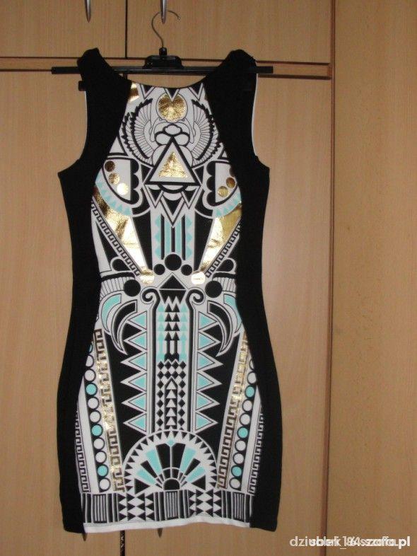 Sukienka river island etniczne wzory...