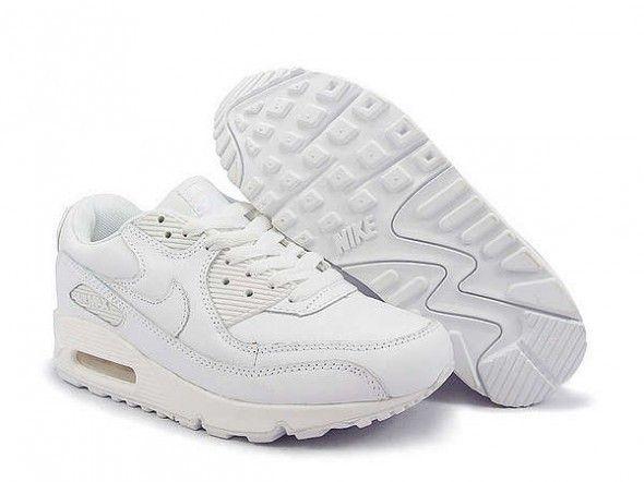 buty nike air max białe