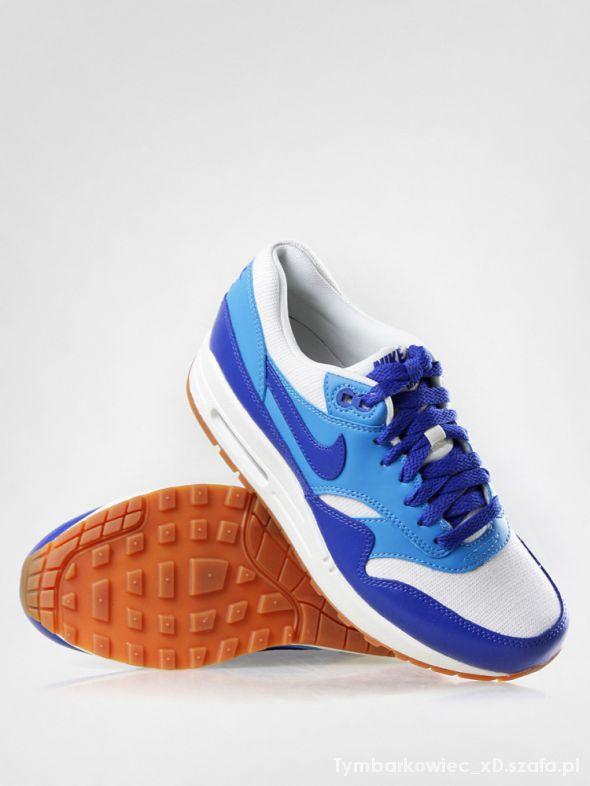 Trampki Air Max 1 niebiesko białe