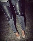 Skóra i jeans