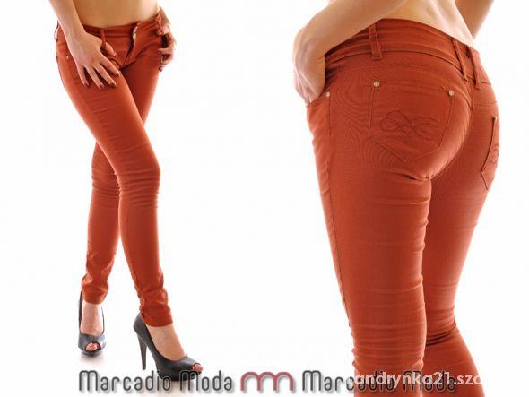Ceglaste spodnie rurki bershka
