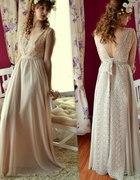 Beżowa sukienka handmade...