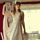 Beżowa sukienka handmade