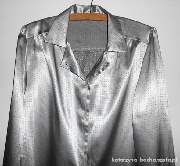 srebrna koszula piżamowa w Koszule Szafa.pl