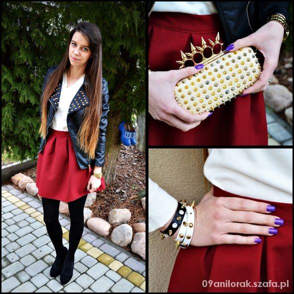 Blogerek Bordowa spódniczka