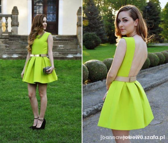 Ubrania Limonkowa sukienka