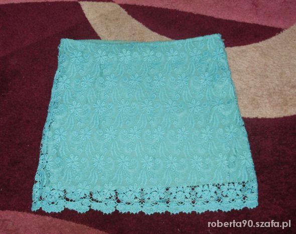 Spódnice koronkowa miętowa