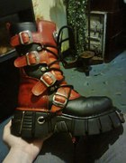 NEW ROCK ITALI NEGRO ROJO REACTOR