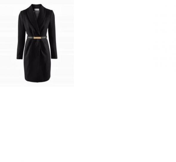 Płaszcz z paskiem H&M czarny