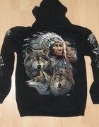 Bluza Wild wilki Indianin M