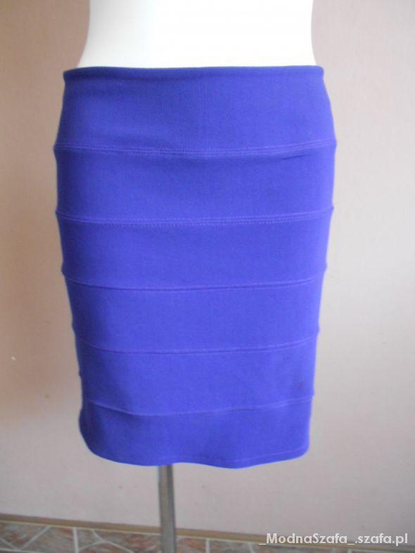 Spódnice Top Shop bandażowa kobaltowa 42