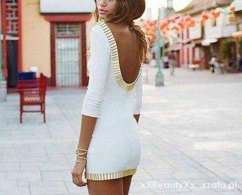 Ubrania Sukienka biała i złoto