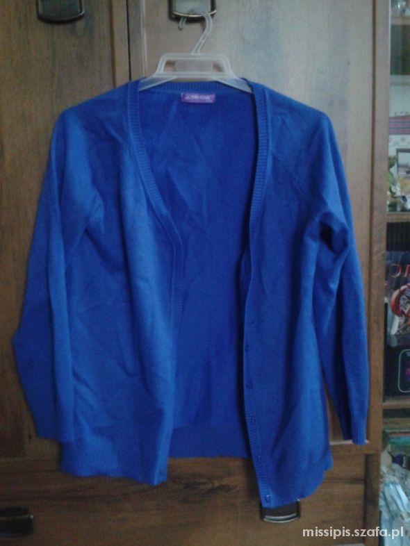 Swetry Niebieski sweter rozpinany