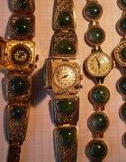 CZAJKA mechaniczny zegarek z porcelaną...