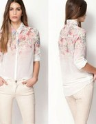 Koszula Szyfonowa Kwiaty vintage