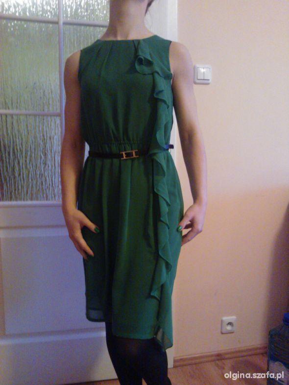zielona zwiewna sukienka Top Secret r 34